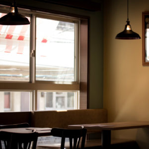 ランズカフェ別府の店内